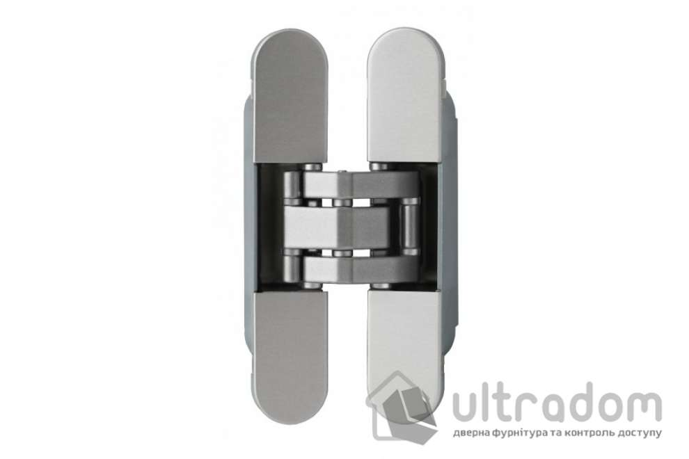 Скрытая дверная 3D петля OTLAV Invisacta IN235 23х120 мм НЕЙЛОН матовый хром