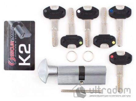 Цилиндр дверной Securemme К2 ключ-вороток 80 мм 5 + 1 монтаж. ключ