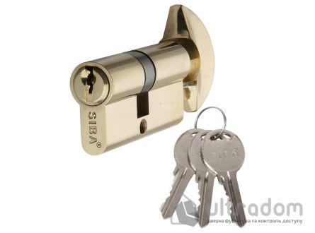 Цилиндр дверной SIBA английский ключ-вороток 80 мм