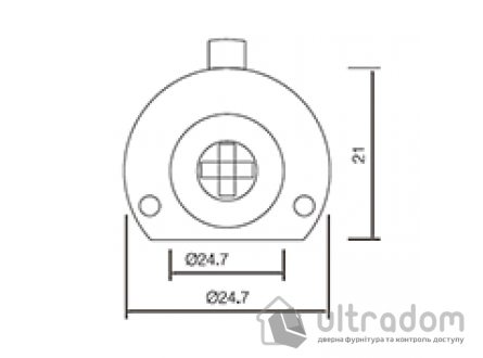 Крестовой цилиндр дверной SIBA, 5 ключей