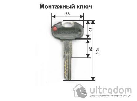 Цилиндр дверной Securemme К2 ключ-вороток 60 мм 5 + 1 монтаж. ключ