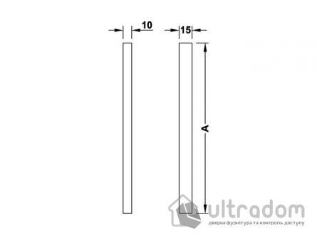 Ручка-скоба для стеклянных дверей HAFELE 161