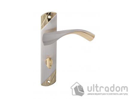 Ручка межкомнатная WC на планке (62 мм) SIBA Siena, мат.никель - альбифрин