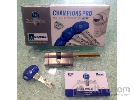 Цилиндр дверной MOTTURA Champions PRO ключ-вороток 92 мм 61x31T