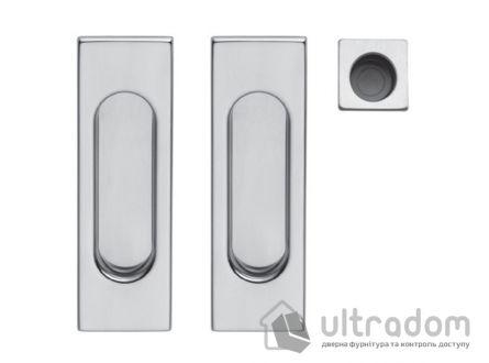 Ручки - ракушки для раздвежных дверей DND by Martinelli Pettangolare матовый хром