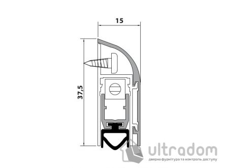 Накладной автоматический порог Comaglio m.1450 63-83 см