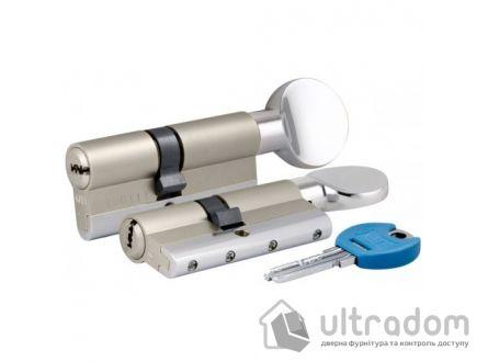 Цилиндр дверной KALE 164 YGS ключ-вороток 90 мм никель