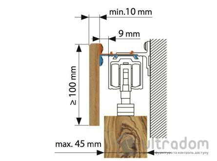 Крепеж для деревянной маскировочной планки Valcomp