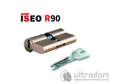 Цилиндр дверной ISEO R90 кл-кл, матовый хром 65 мм