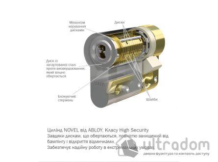 Цилиндр замка ABLOY Novel ключ-ключ, 100 мм
