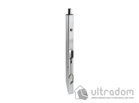 Дверной торцевой шпингалет AGB 160 мм, перекидной, цвет - матовый хром