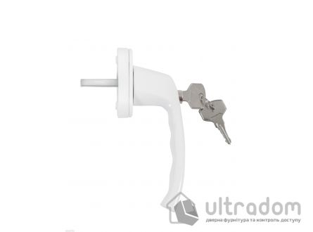 Ручка оконная ANTEY WH038 с ключом, белая RAL9016