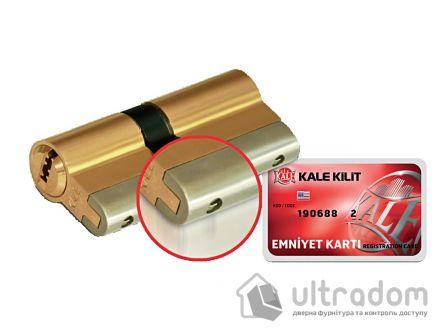 Цилиндр дверной KALE 164 YGS ключ-вороток 80 мм
