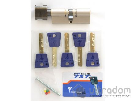 Цилиндр дверной Mul-T-Lock 7x7 кл-вороток., 82 мм