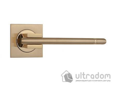 Ручка дверная на розетке SIBA Kristal, мат.золото-золото