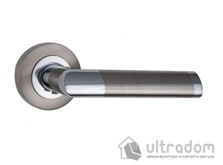 Ручка дверная на розетке SIBA Triesta, мат.никель-хром