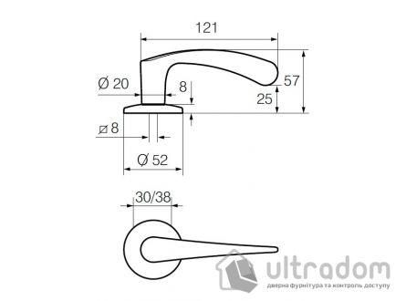 Дверная ручка   ABLOY INTERIA 19/002 хром полированный