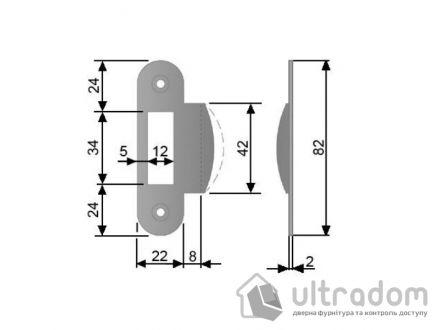Ответка для механизма AGB, стандартная, цвет - коричневая бронза