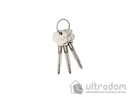 Замок дополнительный, крестовой ключ SIBA 10156/F