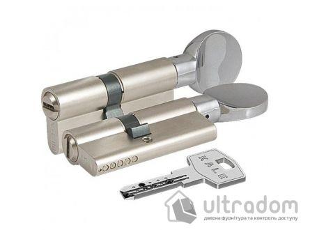 Цилиндр дверной KALE 164  SM ключ-вороток 95 мм никель