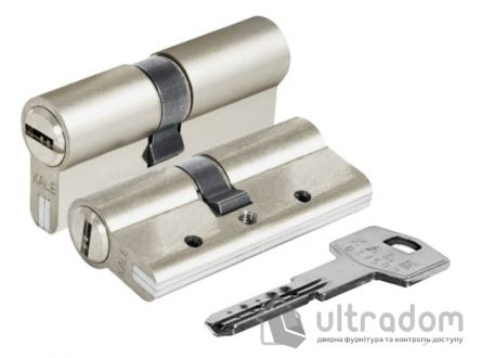 Цилиндр дверной KALE 164 DBNE ключ-ключ 81 мм никель