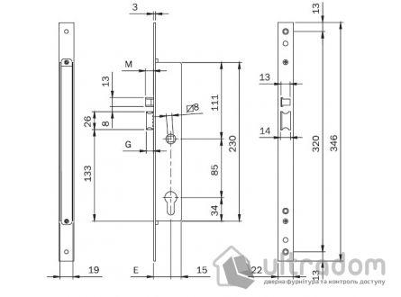 Электромеханический основной замок ISEO 7818