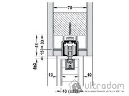 HAFELE Комплект потолочной раздвижной системы Slido Classic 80-I
