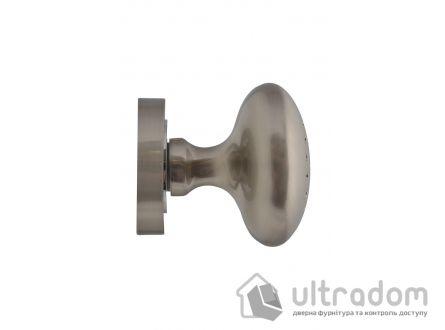 Ручка-кноб дверная на розетке SIBA K02, матовый никель