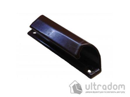 Ручка - ракушка балконная, алюминиевая коричневая