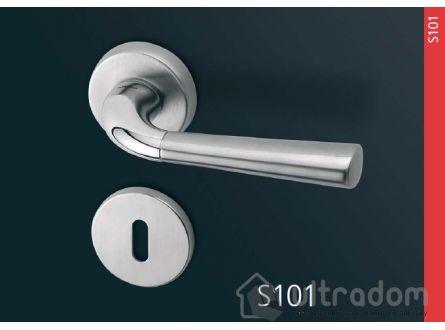 Дверная ручка Mandelli Start цвет - матовый хром \ хром