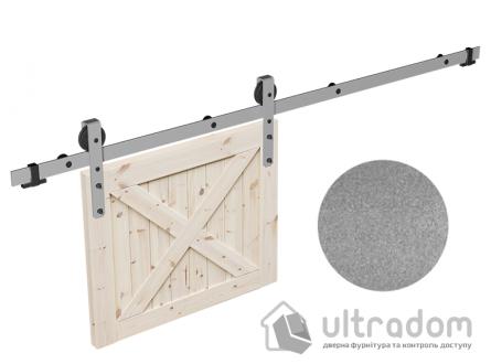 Комплект фурнитуры раздвижной системы Mantion THOR в стиле LOFT, матовый серый
