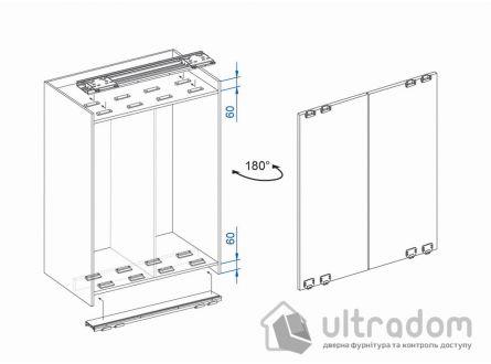 Valcomp IKAR одноплоскостная система для шкафа - купе, 3 двери