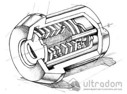 Замковый цилиндр ABLOY Protec 2 HARD ключ-вороток, 123 мм