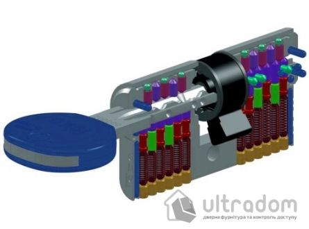 Цилиндр дверной ISEO R7 ключ - тумблер, 90 мм