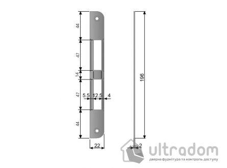 Ответка для механизма AGB CENTRO под ключ, под четверть, цвет - латунь.