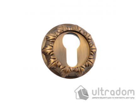 Накладки под евроцилиндр (YALE) SIBA R05, фигурная бронза