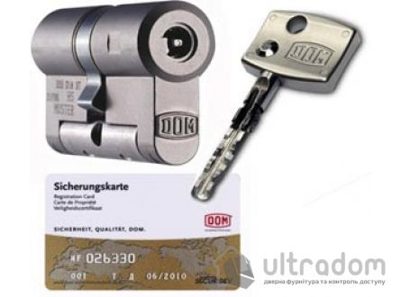 Цилиндр дверной DOM Diamond ключ-вороток 129 мм