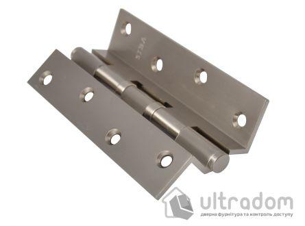 Латунные угловые петли SIBA 125 мм. , SN - матовый никель