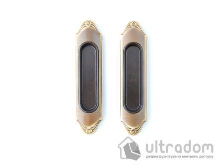 Ручки - ракушки для раздвижных дверей Mandelli 1028, мат.бронза