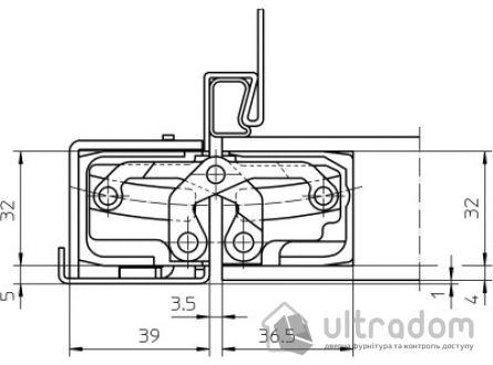 Петля скрытая Simonswerk TE 540