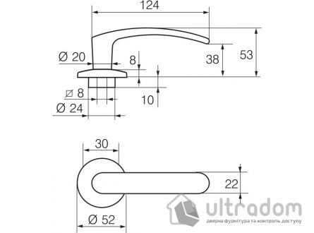 Дверная ручка   ABLOY POLAR 6/002 матовый хром