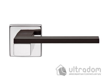 Дверная ручка DND by Martinelli ESA - чёрная-хром CNE
