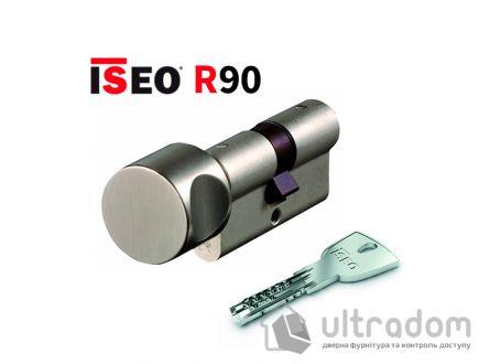 Цилиндр дверной ISEO R90 кл-вороток, матовый хром 65 мм