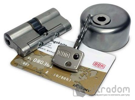 Цилиндр дверной DOM Diamond ключ-ключ 144 мм