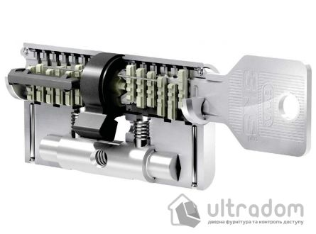 Цилиндр дверной EVVA 3 KS KZ кл-вороток никель 107 мм