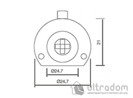 Крестовой цилиндр дверной SIBA, 3 ключа