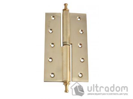 Петли дверные усиленные Sofuoglu 160 мм., цвет - полированная латунь
