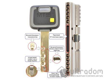 Цилиндр дверной Mul-T-Lock MT5+ ключ-вороток., 81 мм