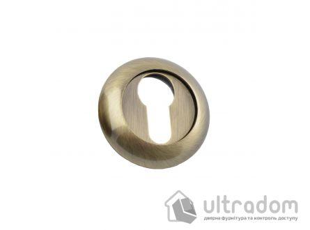 Накладки под евроцилиндр (YALE) SIBA R02, ант.бронза