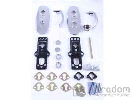Фурнитура защитная  MUL-T-LOCK Platinum 3 класс 90 мм хром
